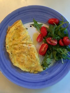 How to make an omelet, finished omelet.