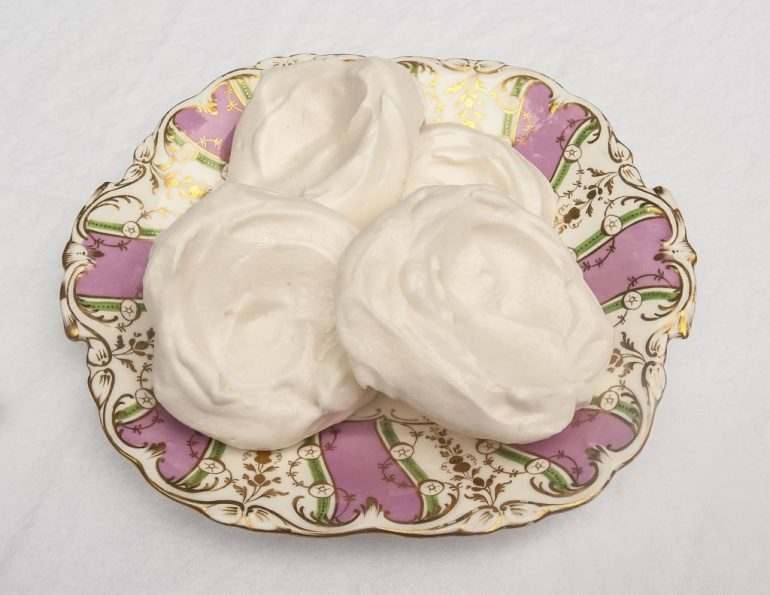 Aquafaba meringue nests for vegan pavlova