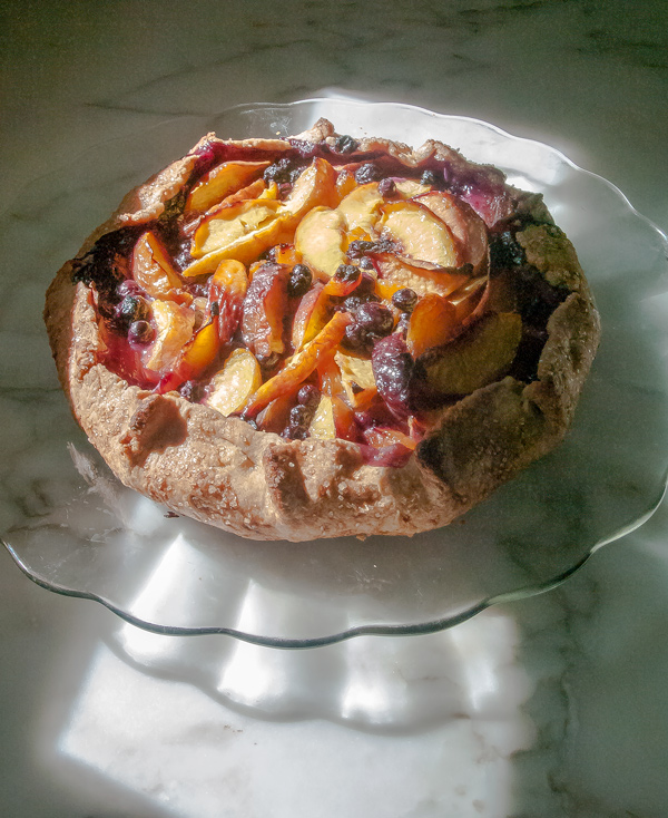 Nectarine and Blueberry Gallette