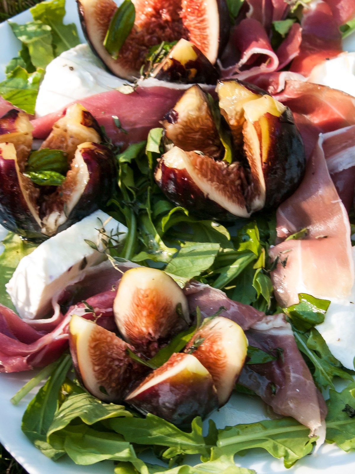 A Sexy Fig, Mozzarella, and Prosciutto Salad, Good Enough for The Land of Mutz