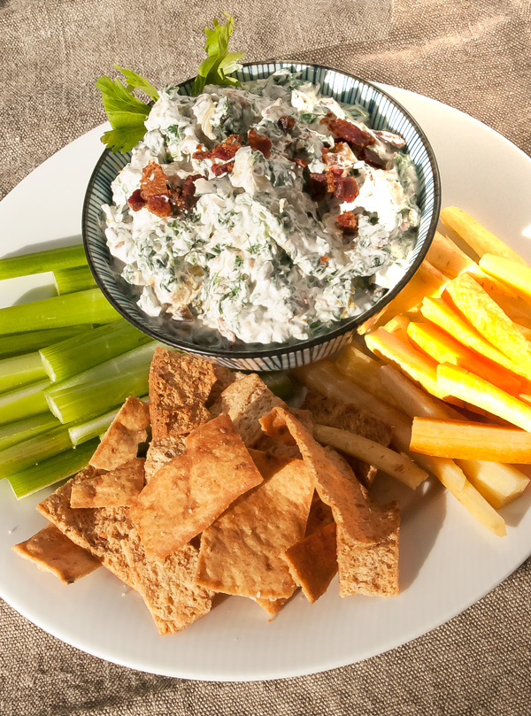 Spinach Artichoke Dip with Bacon Recipe