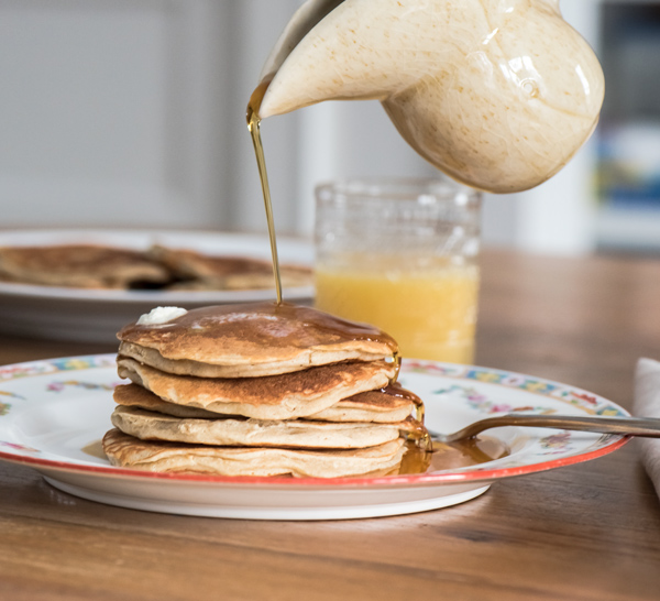 Airy Banana Oat Pancakes recipe