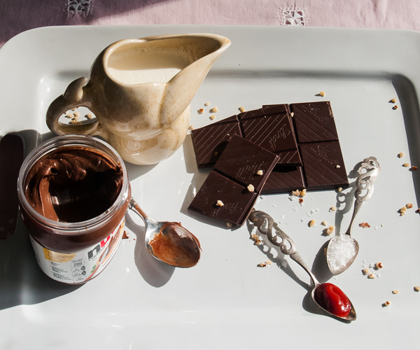 Chocolate Nutella Pots de Creme - Lemon Thyme and Ginger
