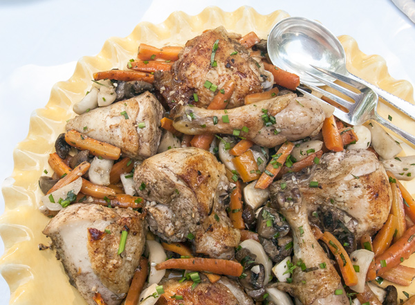 One Pan, One Meal roasted chicken dinner recipe