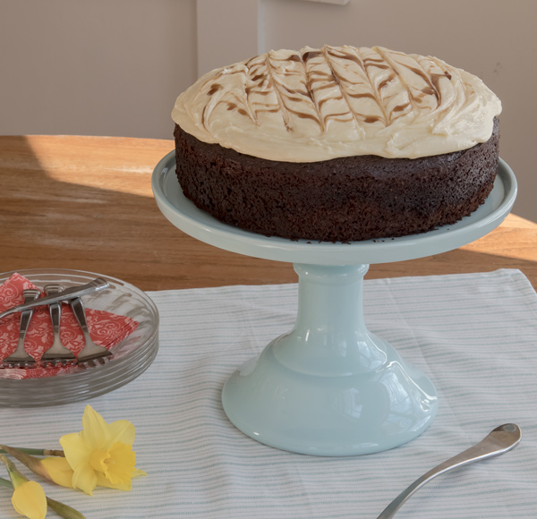 Chocolate Stout Cake with White Chocolate Cream Cheese Frosting