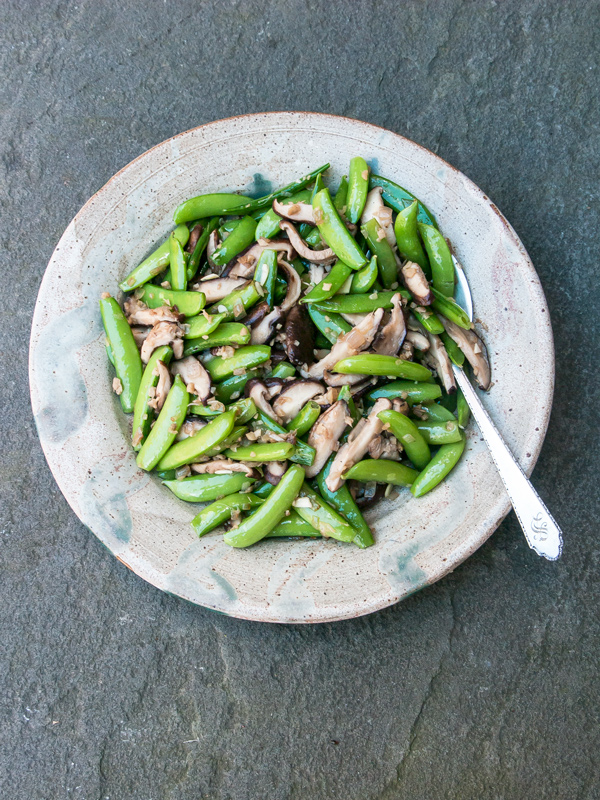 Sugar Sanp Peas with Shiitake Mushrooms Recipe