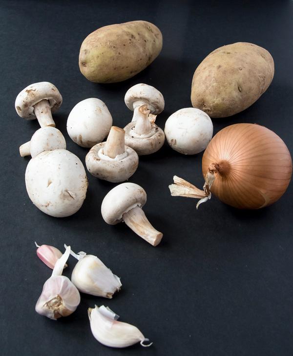 Rosti: Crispy Potato Pancakes with Mushrooms and Onions reicpe