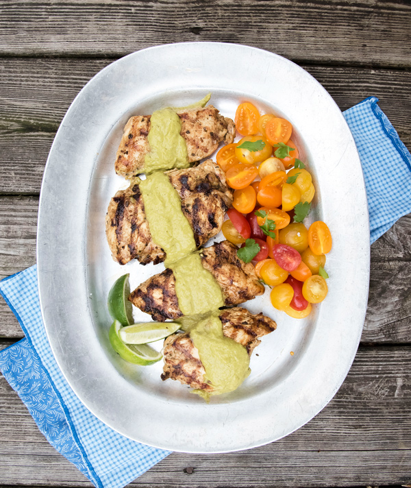 Taste of Mexico: Poblano Chili Cream Sauce with Grilled Chicken
