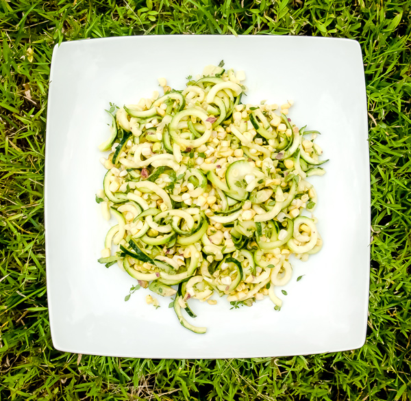 Zucchini and Corn Salad with Pistachios