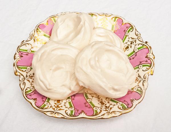 Auqafaba meringue nest recipe