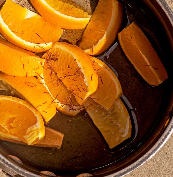 Grilled Chicken Salad with Orange Saffron Dressing reicpe