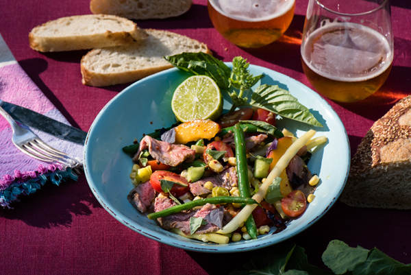 Summer Vegetable Steak Salad with Spicy Citrus Dressing Recipe