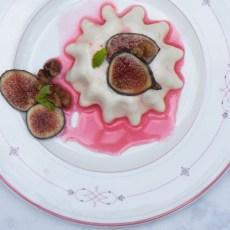 Spiced Figs with Yogurt Panna Cotta recipe.