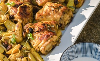 Roasted Curry Chicken with Potaotes and Raisins recipe.