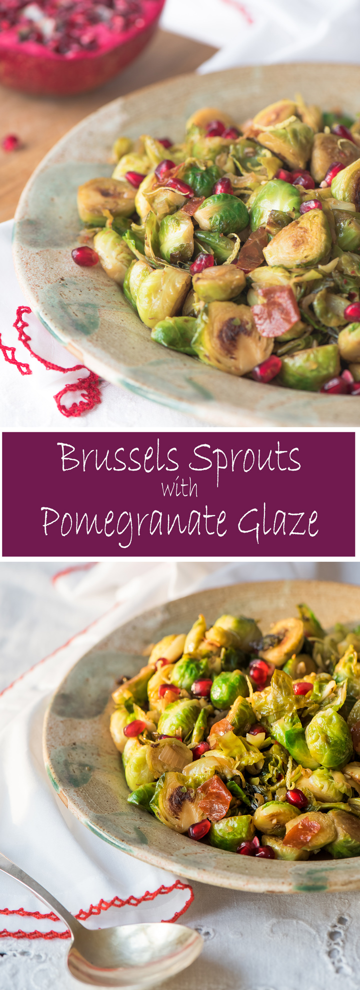 How to cook Brussels sprouts . Brussels sprouts are seared in a skillet then braised until tender. They are finished with a glaze of butter and pomegranate molasses.