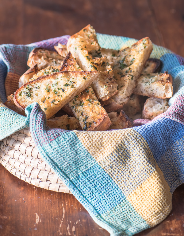 Garlic Bread with Fresh Herbs, recipe.