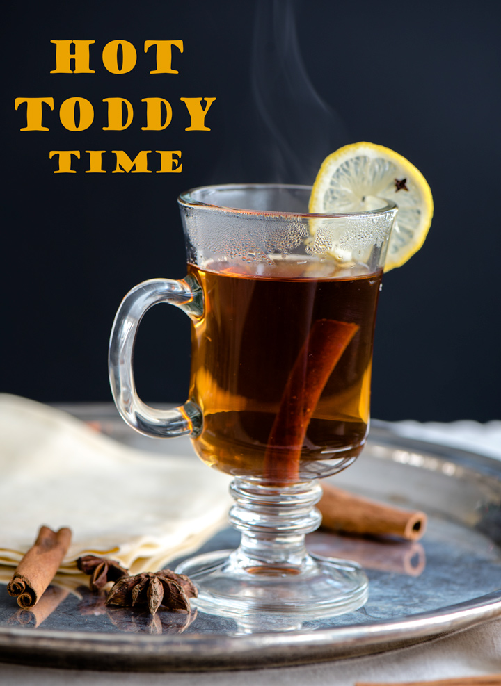 The perfect antidote to a cold winter day. A Hot Toddy recipe made with hot water, Irish Whisky, honey, lemon and winter spices.