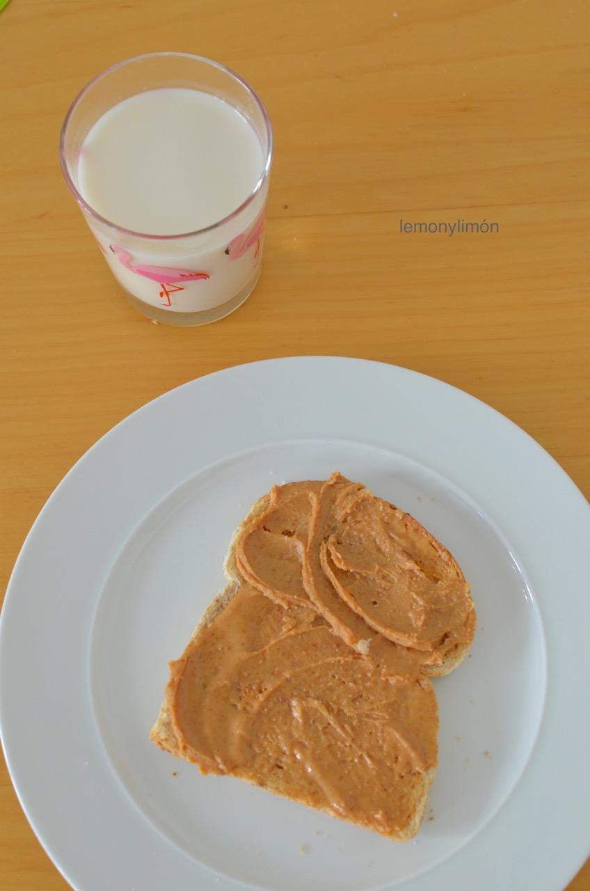 Mantequilla de cacahuete casera