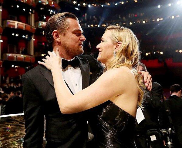 Leonardo DiCaprio y Kate Winslet Oscars 2016