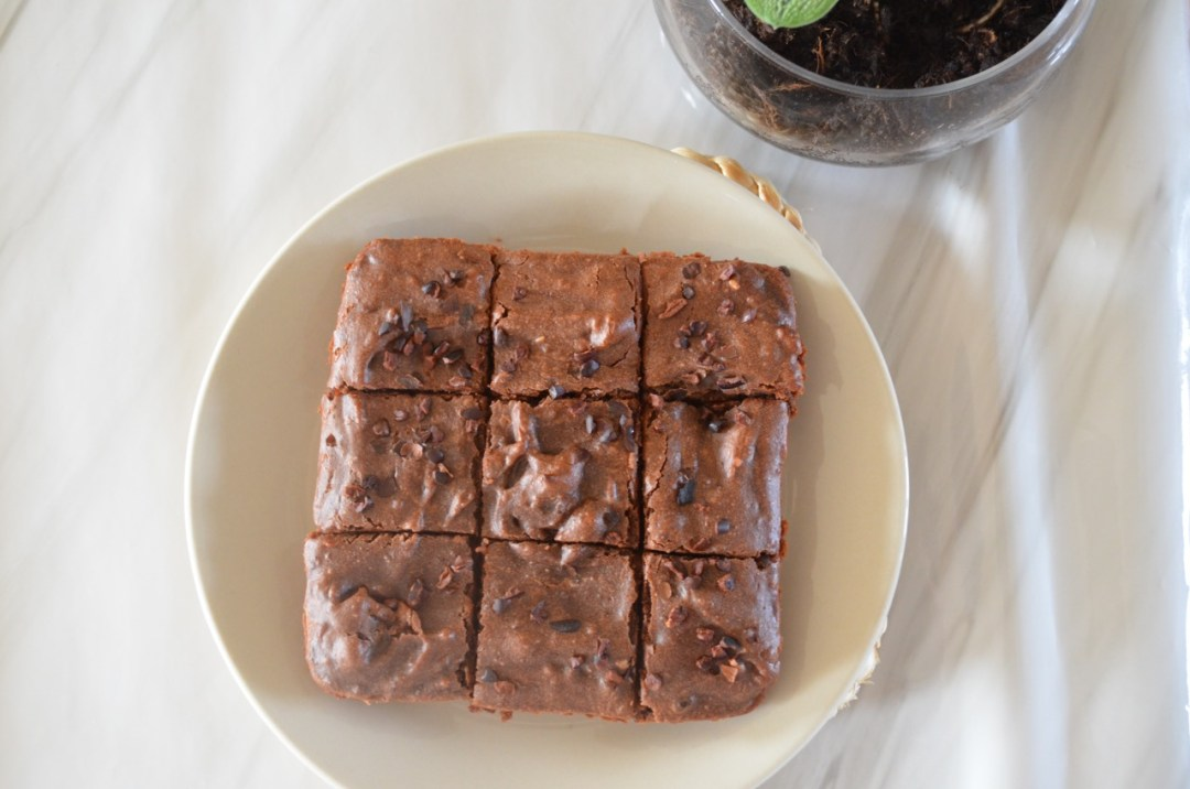brownie vegano y saludable