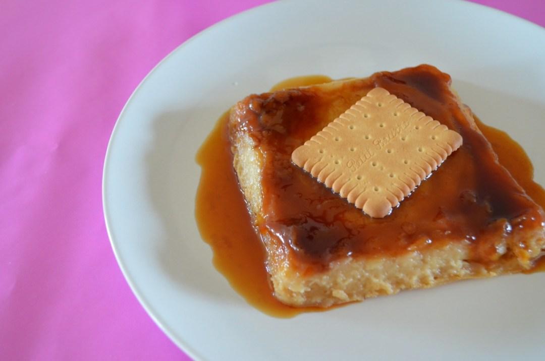 flan de galletas María al microondas