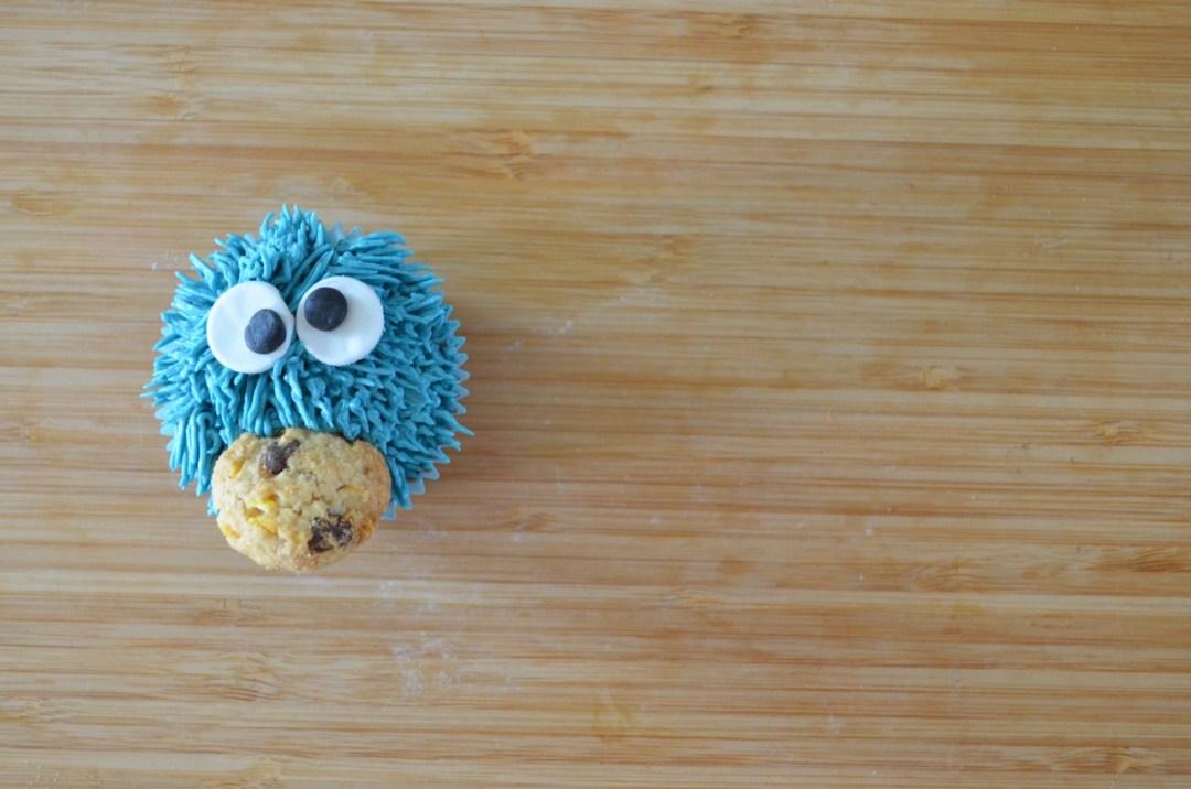 """cupcakes de chocolate""""monstruo de las galletas"""""""