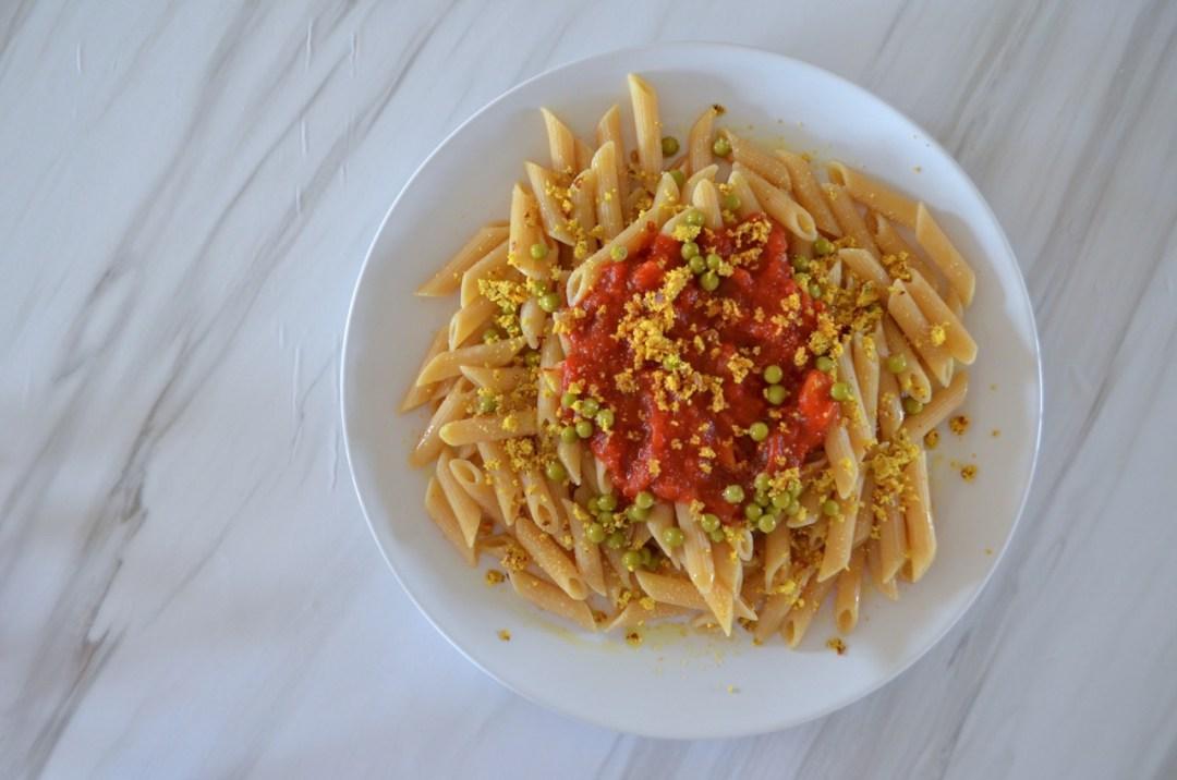 macarrones integrales a la boloñesa veganos