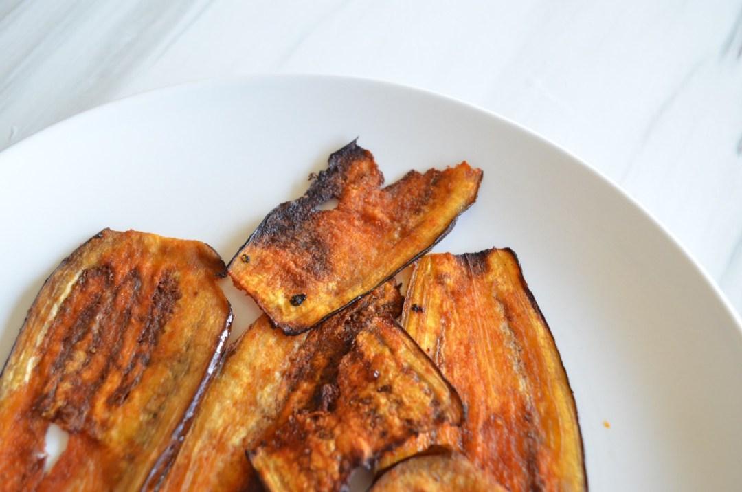 bacon vegano de berenjena