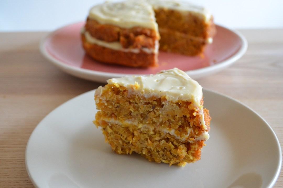 tarta de zanahoria vegana