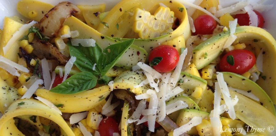 zephyr squash summer salad lemony thyme