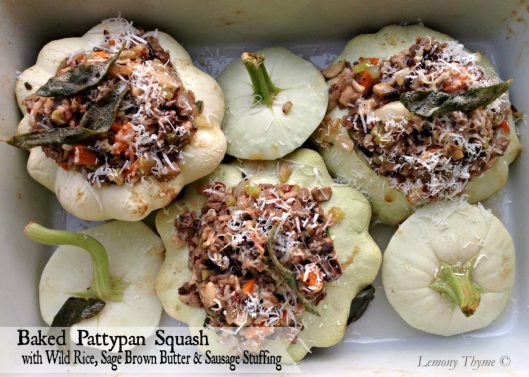 Baked Stuffed Pattypan Squash from Lemony Thyme