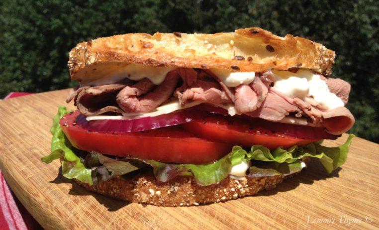 Roast Beef Horseradish Sandwich