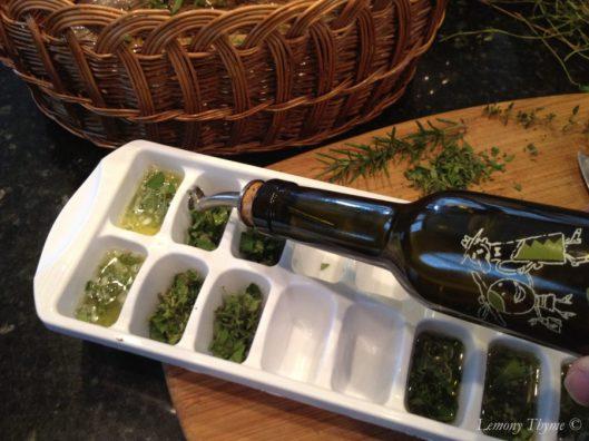 Fresh Herbs Frozen in Butter & Olive Oil