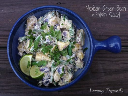 Mexican Green Bean & Potato Salad from Lemony Thyme