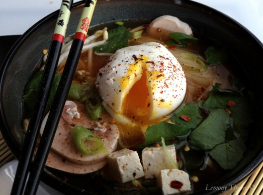 Miso Soup with Poached Egg