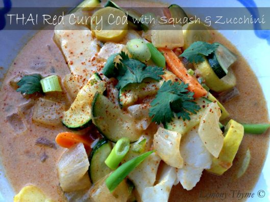 Thai Red Curry Cod with Squash & Zucchini