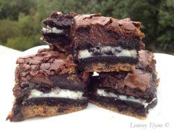 Chocolate Chip Oreo Brownies