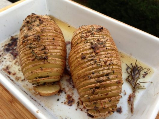 Sliced Twice Baked Potatoes