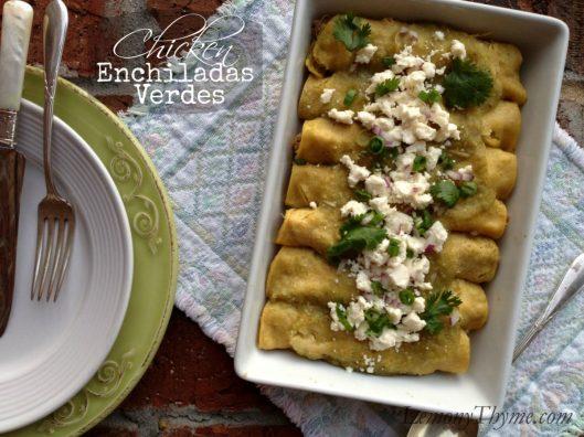 Chicken Enchiladas Verdes from Lemony Thyme