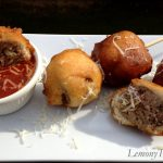 Spaghetti & Meatball on a Stick