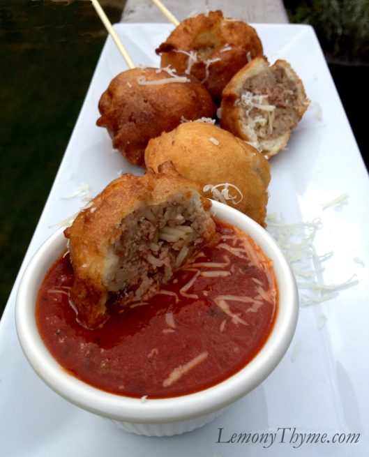 Spaghetti & Meatball on a Stick