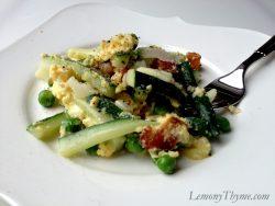 Zucchini Carbonara Scrambled Eggs