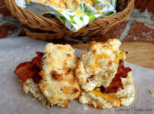 Bacon, Egg, and Cheddar Buttermilk Biscuits
