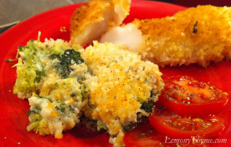 Broccoli Cheese Casserole with Baked Cod-Weight Watchers