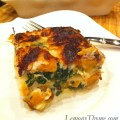 Butternut Squash, Spinach & Caramelized Onion Lasagna