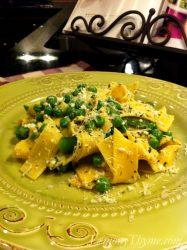 Pappardelle & Peas with Ricotta Pesto