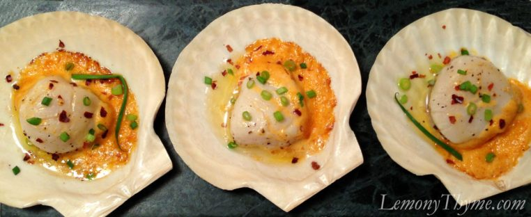 Sea Scallops with Spicy Mayo