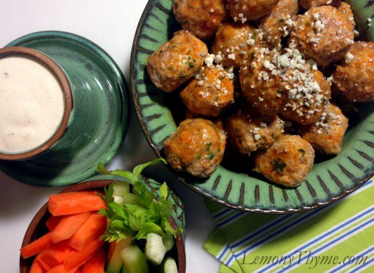 Baked Buffalo Chicken Meatballs