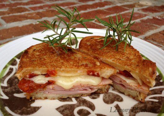 Rosemary Ham & Gruyere Cheese Sandwich {with Sundried Tomatoes}