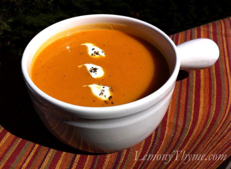 Roasted Garlic & Butternut Squash Soup